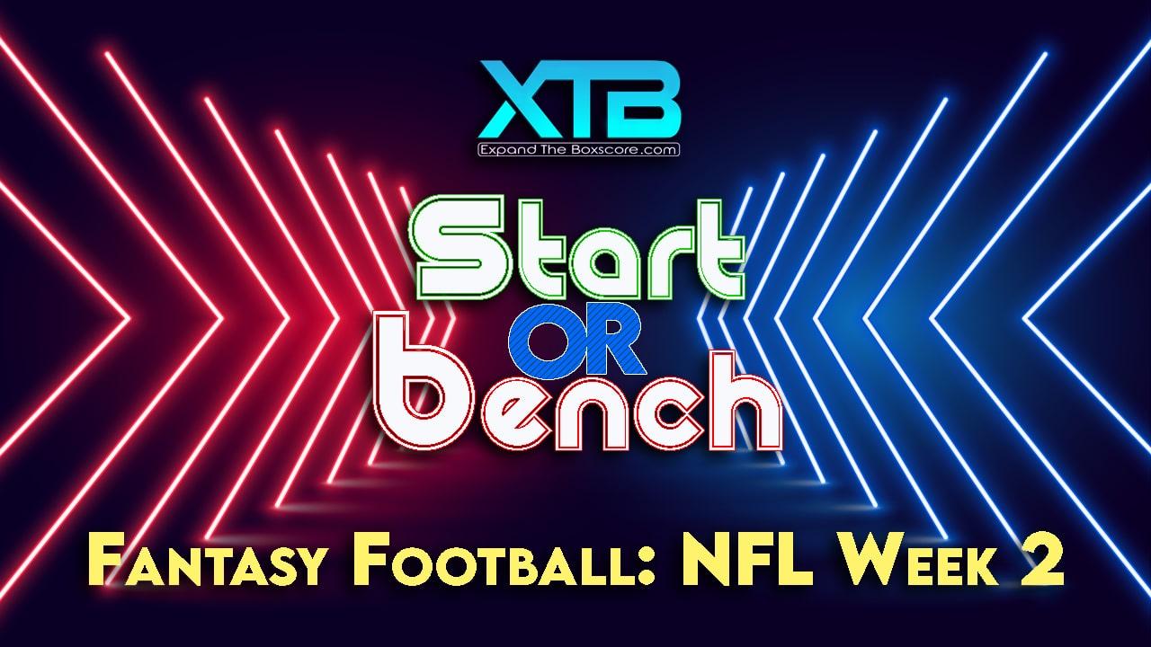 START or BENCH: Week 2
