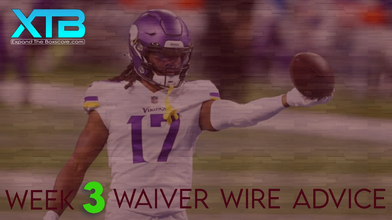 Waiver Wire Advice: Week 3